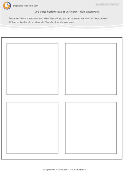 graphisme-maternelle-petite-section- les-traits-horizontaux-et-verticaux-patchwork