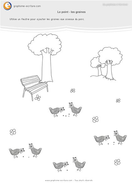 graphisme-maternelle-les-points-le-point-oiseaux-du-parc-et-les-graines