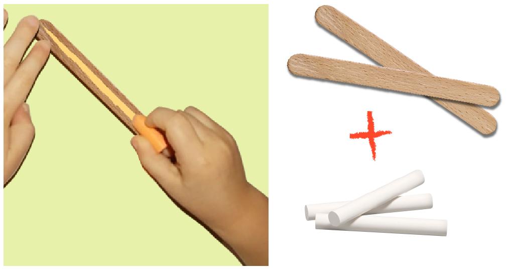graphisme-maternelle -petite-section- le-trait-vertical-batonnet-de-glace-et-craie