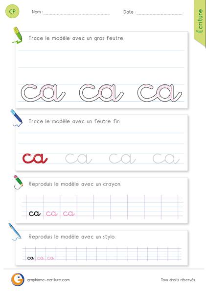 fiche-graphisme-ecriture-cp-ecrire-le-mot-ca-minuscule-cursive