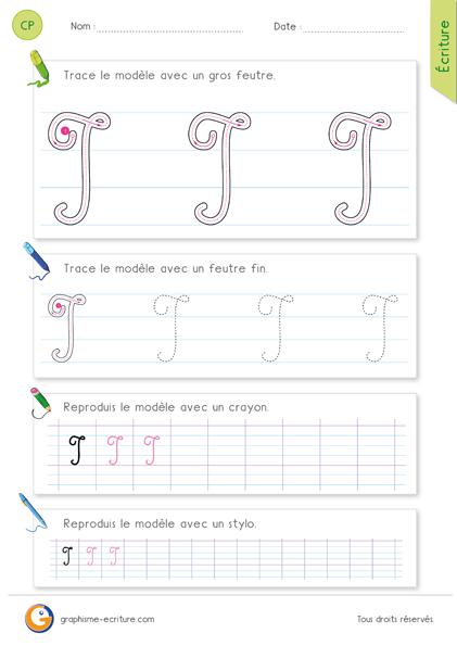 exercice-fiche-graphisme-écriture-cp-ce1-écrire-la-lettre-I-majuscule-en-cursive