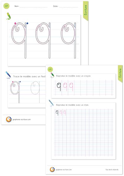 exercice-fiche-graphisme-écriture-cp-ce1-écrire-la-lettre-Q-majuscule-en-cursive