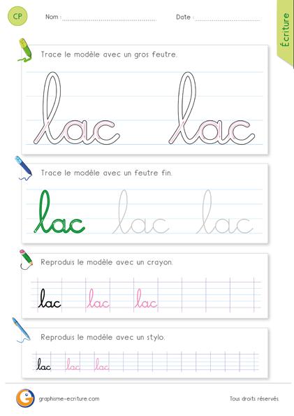 fiche-graphisme-ecriture-cp-ecrire-le-mot-lac-minuscule-cursive