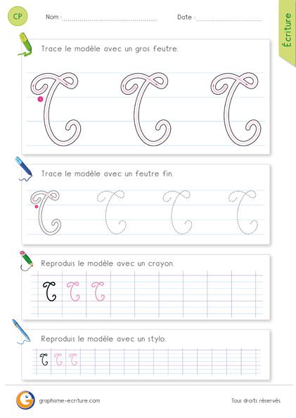 exercice-fiche-graphisme-écriture-cp-ce1-écrire-la-lettre-A-majuscule-en-cursive
