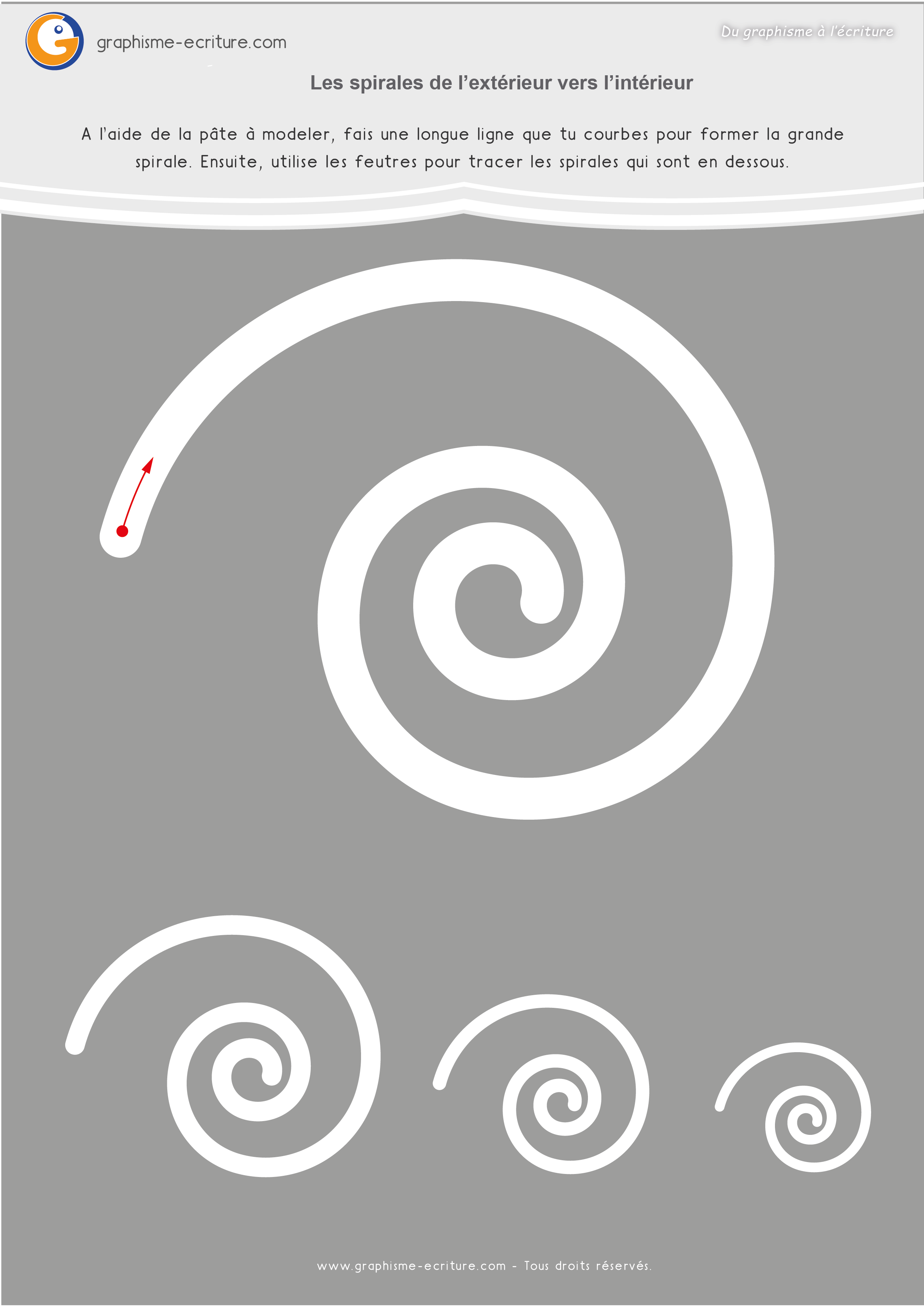Graphisme moyenne section spirale fiches plastifier for Interieur a la spirale