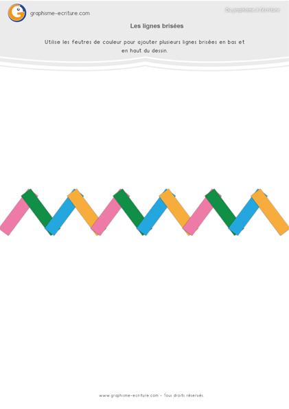 exercice-fiche-graphisme-écriture-moyenne-section-ms-lignes-brisees-zigzag-collage-papier-feutre
