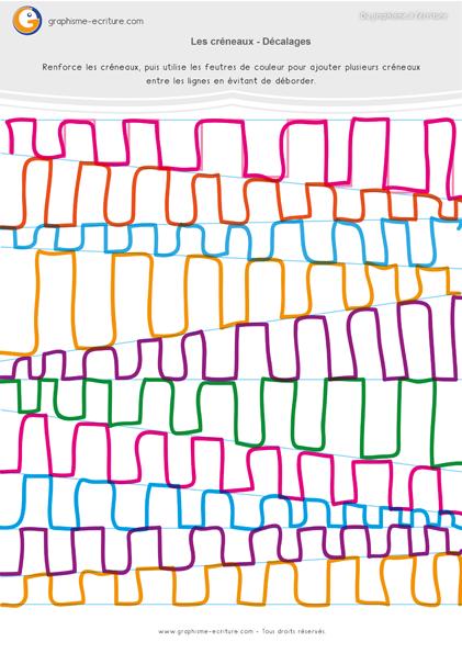 Graphisme Moyenne Section Créneaux – Décalages