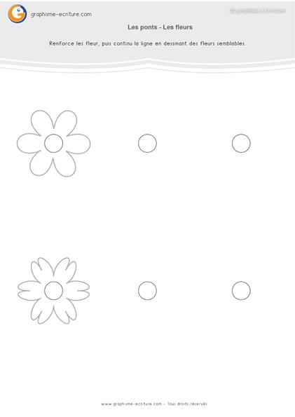 exercice-fiche-graphisme-écriture-moyenne-section-ms-les-ponts-dessiner-des-fleurs