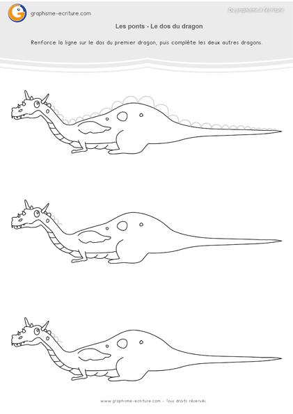 exercice-fiche-graphisme-écriture-moyenne-section-ms-les-ponts-a-l-endroit-le-dos-du-dragon