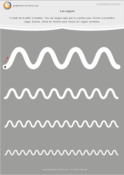 Graphisme Moyenne Section Les vagues