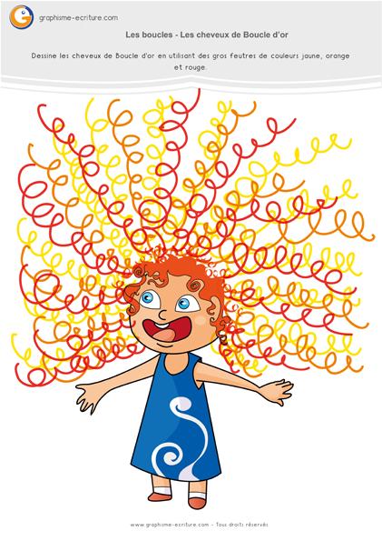 exercice-fiche-graphisme-écriture-moyenne-section-ms-les-boucles-cheveux-de-boucle-d-or