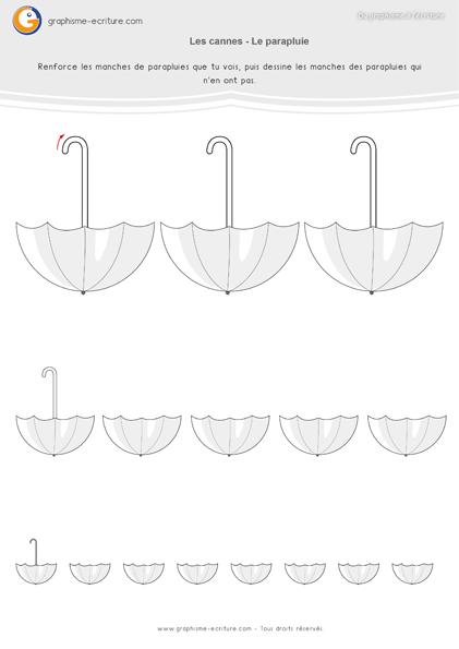 Graphisme MS Cannes et Crochets Manches des parapluies