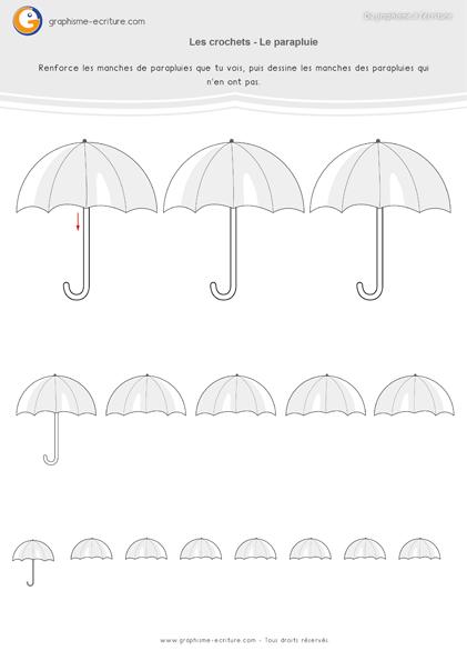 exercice-fiche-graphisme-écriture-moyenne-section-ms-les-crochets-manches-des-parapluies