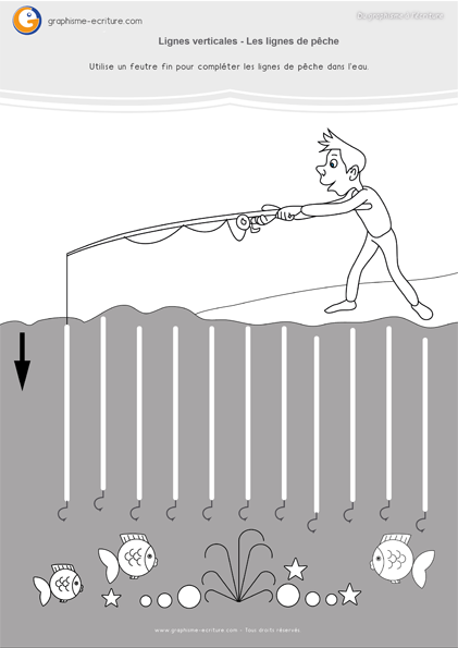 exercice-fiche- graphisme-écriture-moyenne-section-ms-faire-les-lignes-verticales-trait-vertical-lignes-de-pêche