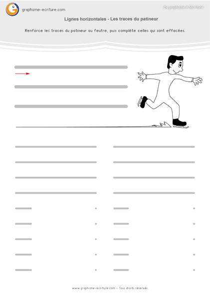 Graphisme MS Lignes horizontales sur les traces du patineur