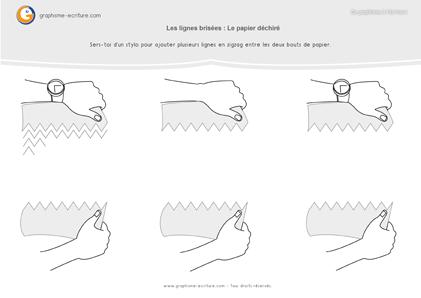Graphisme GS Zigzags - entre les bouts de papiers déchirés