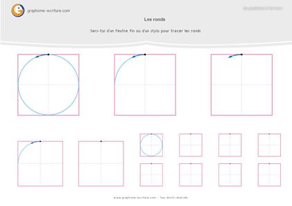 Activité Graphisme GS Les ronds - PDF Fiche à plastifier