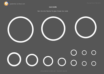 Activité Graphisme GS Les ronds - PDF Fiche à plastifier 2