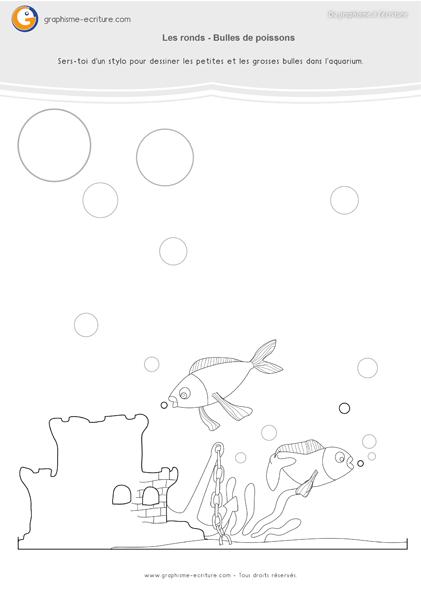 PDF Fiche de Graphisme GS Les ronds - Bulles des poissons