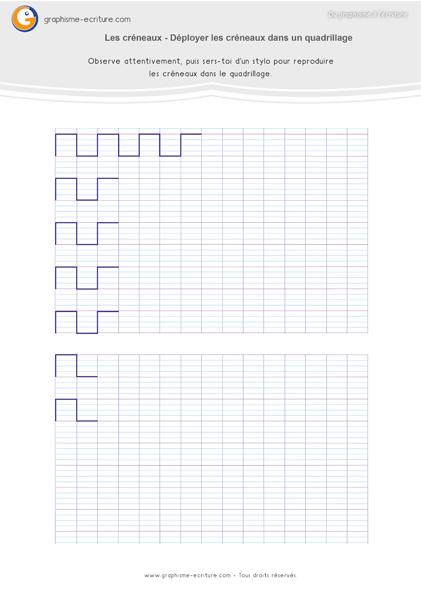 Graphisme GS Les créneaux Tracer sur papier Seyes