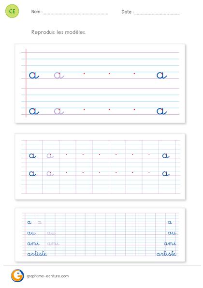lettres bâton lettres cursives lettres script
