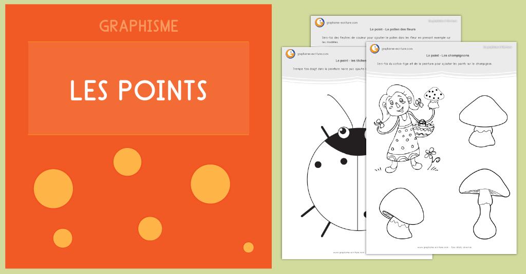 Graphisme Maternelle au CP Les points - PDF Fiche Graphisme les points