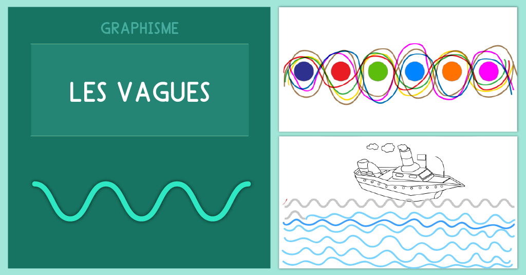 Graphisme Maternelle Les vagues - Fiche PDF ls vague MS GS CP