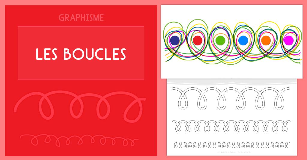 Graphisme Maternelle Les boucles à l'endroit et à l'envers