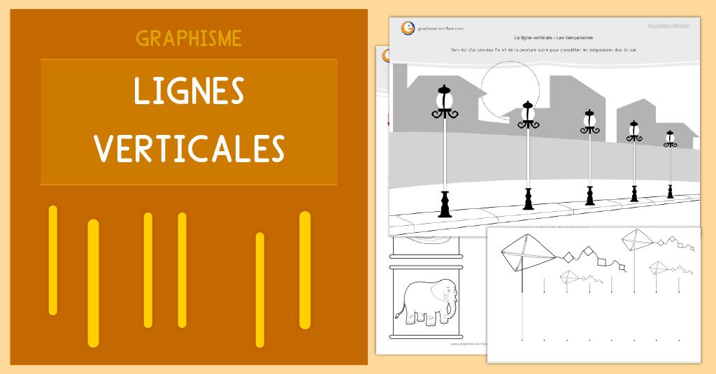 PDF Fiche Graphisme Lignes verticales Maternelle PS MS GS