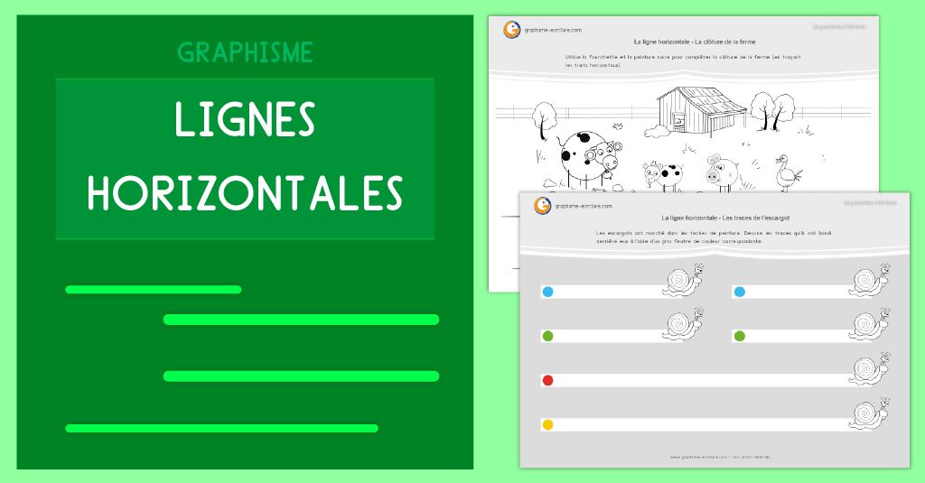 Graphisme Maternelle Les lignes horizontales PS MS GS CP