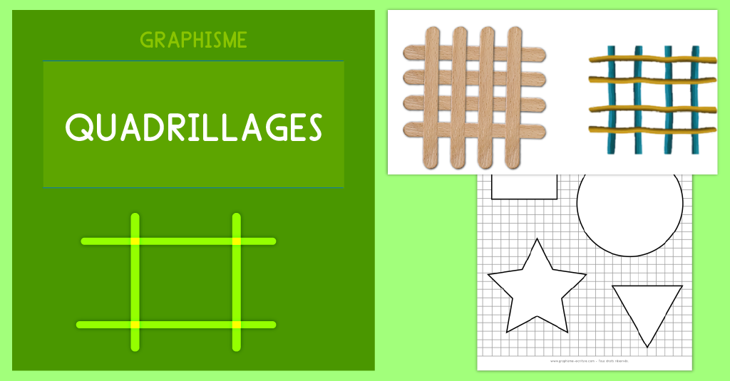 Graphisme Maternelle Le quadrillage - Exercice Maternelle