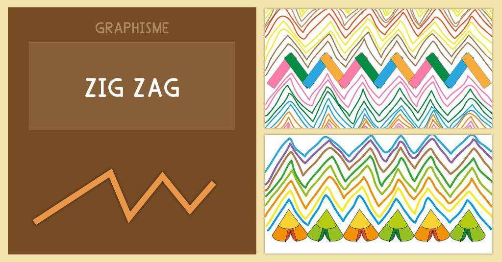 Graphisme Maternelle Les lignes brisées ou zigzag MS GS CP