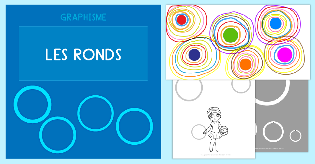 Graphisme Maternelle Les ronds - Exercice Maternelle PS MS GS CP