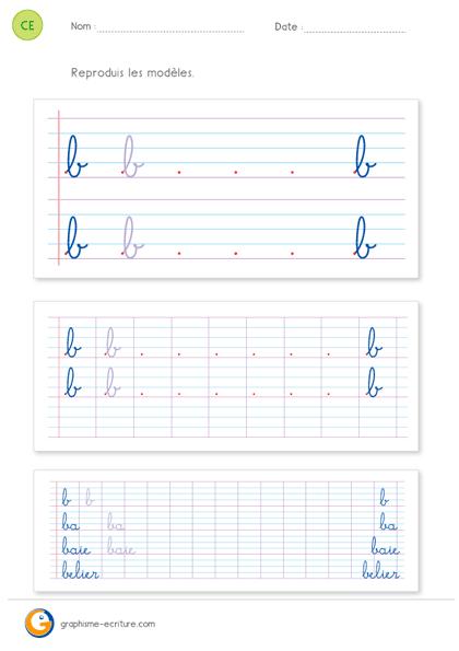 Préférence Écriture CE1 CE2 | PDF Fiche d'écriture CE2 à imprimer ZQ74